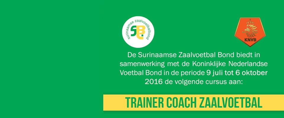 Opleiding Trainer Coach Zaalvoetbal