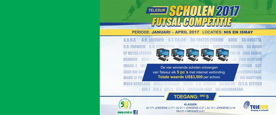 Telesur Scholen Futsal competitie 2017
